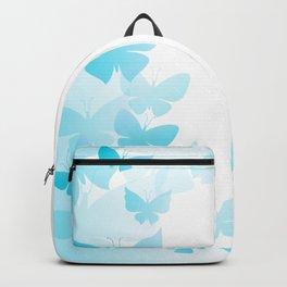 Butterfly Blue Butterflies Flying Off Backpack