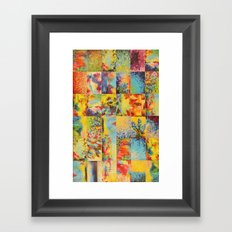 COLORFUL INDECISION 1 - Bold Bright Beautiful Abstract Acrylic Painting Collection Nature Rainbow Framed Art Print