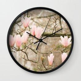 Magnolia Candelabra Wall Clock