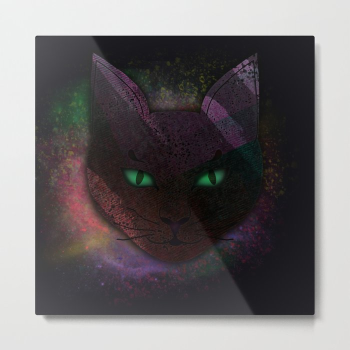 Watching Cat Metal Print