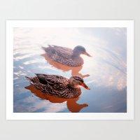 duck Art Prints featuring Duck by DistinctyDesign