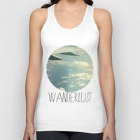 airplane Tank Tops featuring wanderlust airplane by shans