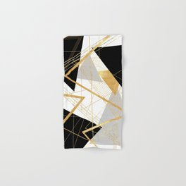 Black and Gold Geometric Hand & Bath Towel