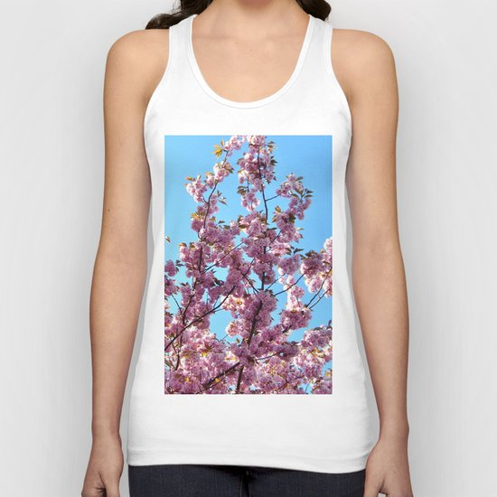 spring pink  blossoms Unisex Tank Top