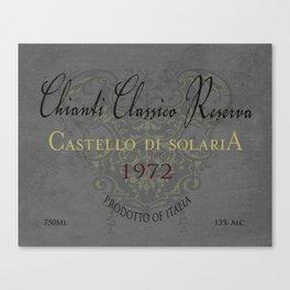 Vintage Wine Label Print (Chianti Classico) Canvas Print
