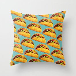 Taco Pattern Throw Pillow