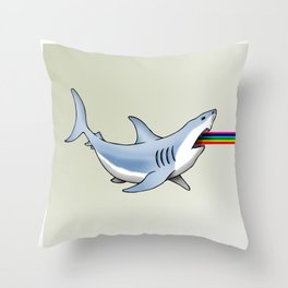 Rainbow Shark Throw Pillow