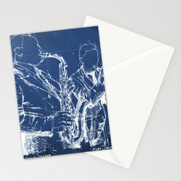 Jazz: Miles and Parker on stage handmade drawing Stationery Cards