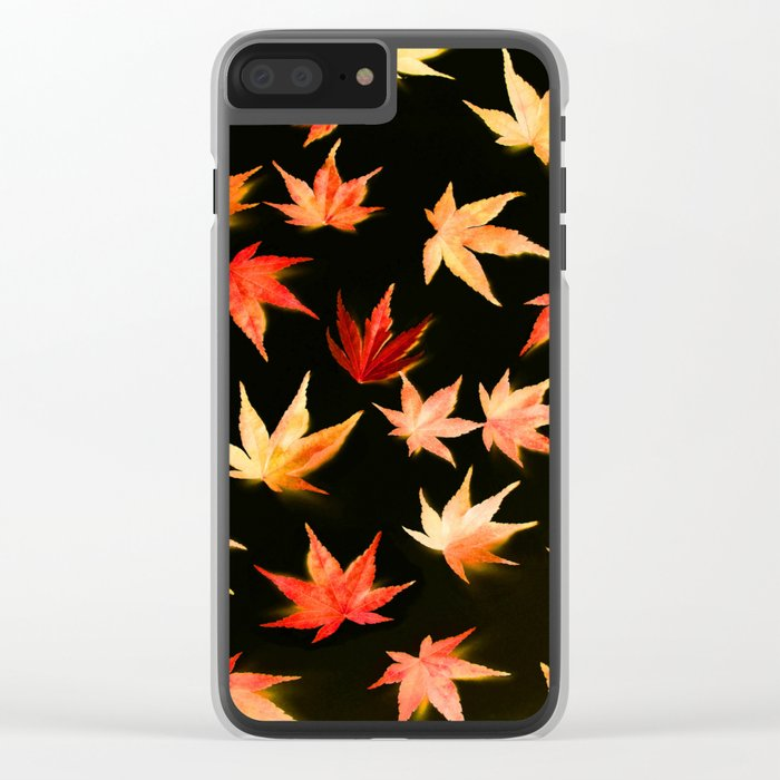 AUTUMN ROMANCE - LEAVES PATTERN #3 #decor #art #society6 Clear iPhone Case