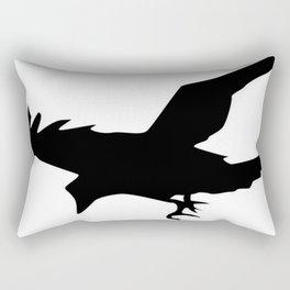 Raven A Halloween Bird Of Prey  Rectangular Pillow