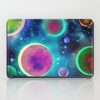 planets iPad Cases featuring Festive Planets by SensualPatterns