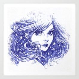 Night Star Art Print
