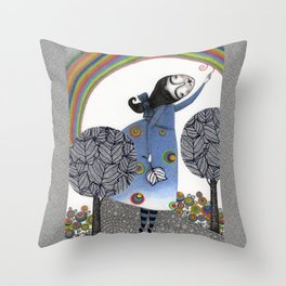 Rainbow Mine (3) Throw Pillow