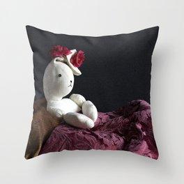 Bunny Muse Throw Pillow