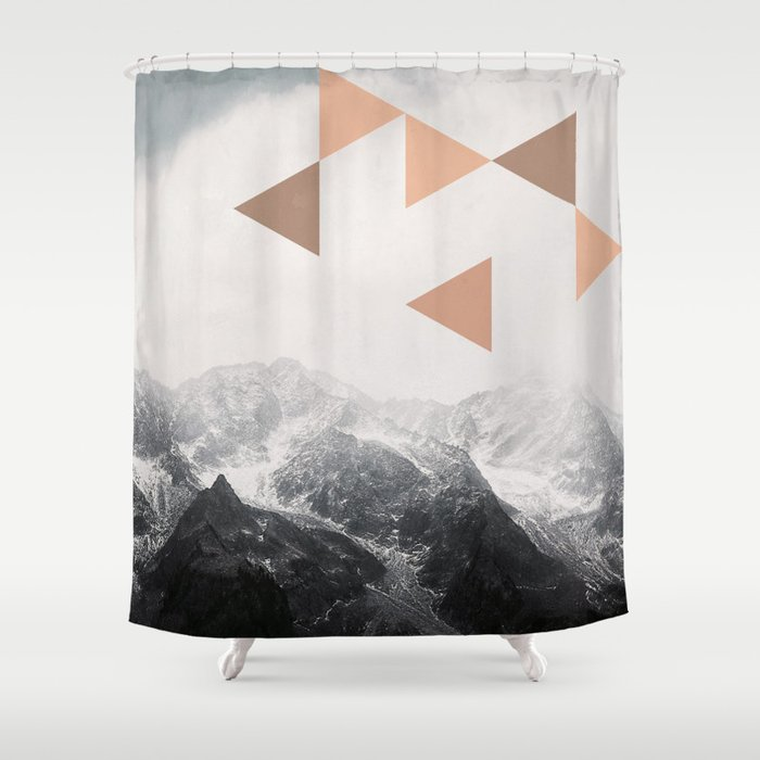 Mountains  - Vintage - Nature Photography Shower Curtain