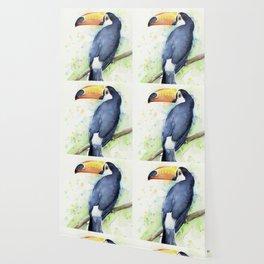 Toucan Tropical Bird Watercolor Wallpaper