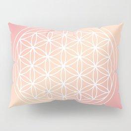 Flower of Life Mandala Pink Peach Pillow Sham
