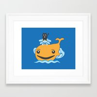 surfing Framed Art Prints featuring Surfing by Hagu