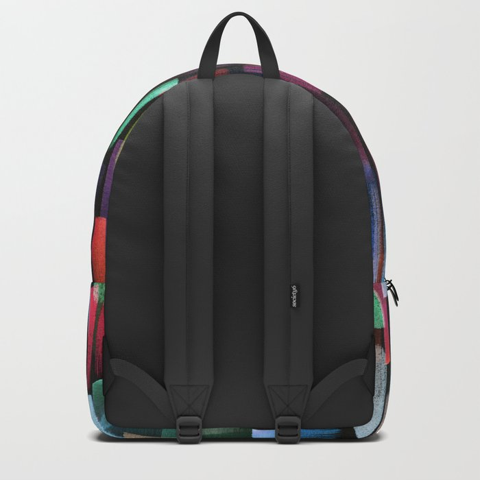 colorful brushstrokes pattern Backpack