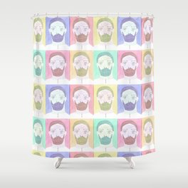 Green Beard Lumberjack Shower Curtain