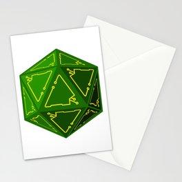 D20 Cyberpunk Stationery Cards