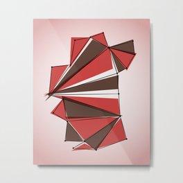 Origami 10 Metal Print