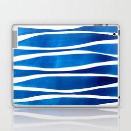 Blue Watercolor Brushstrokes Laptop & iPad Skin