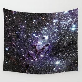 The Eagle Nebula : Pillars of Creation Deep Dark Blues & Purples Wall Tapestry