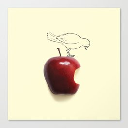 Apple - Bird Canvas Print