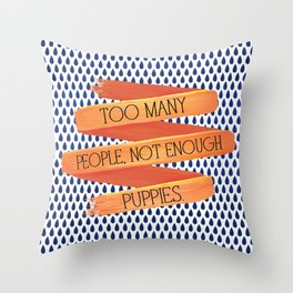 Puppies > People Throw Pillow