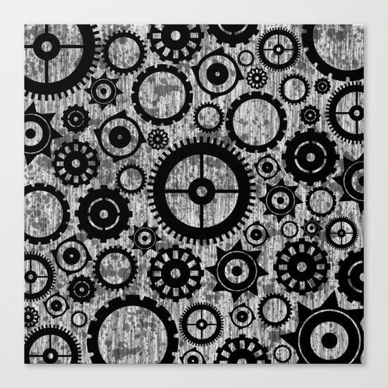 Grunge Cogs. Canvas Print