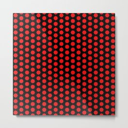 New red black pattern Metal Print