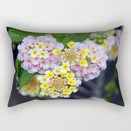 Tropical Plant Lantana Camara or West Indian Lantana Rectangular Pillow