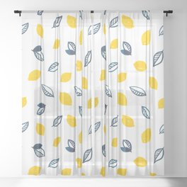 Summer Lemons Sheer Curtain