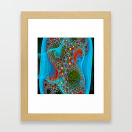 Abstract Topography Framed Art Print