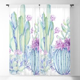Mixed Cacti White #society6 #buyart Blackout Curtain