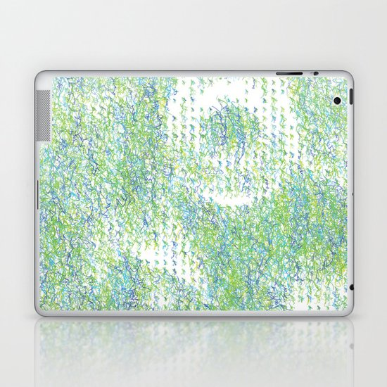 Peacock Feathers Doodle Laptop & iPad Skin