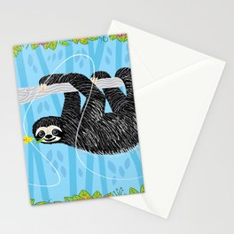The Sloth and The Hummingbird Stationery Cards