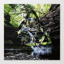Triquetra waterfall Canvas Print