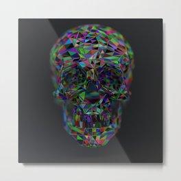Skull Low-Poly Color Metal Print