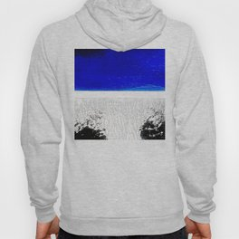 Blue river and a white landscape Hoody