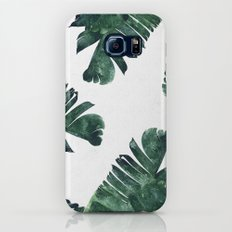 Banana Leaf Watercolor Pattern #society6 Galaxy S6 Slim Case