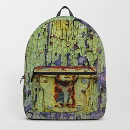 Cracked Vintage Paint Abstract Backpack
