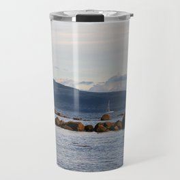 Sail Away On Galway Bay - Ireland Ocean Landscape - Blue Travel Mug