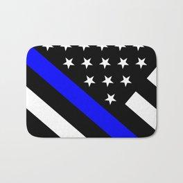 Police Flag: The Thin Blue Line Bath Mat
