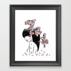 Sakura tears Framed Art Print