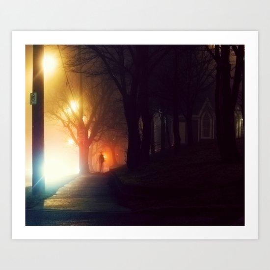 Walking Stranger Art Print