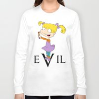 evil Long Sleeve T-shirts featuring eVil by @tylordkills