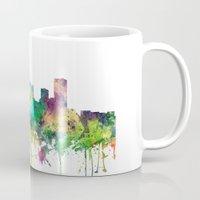 oklahoma Mugs featuring Oklahoma City, Oklahoma skyline SP by Marlene Watson