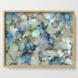 Alcohol Ink Sea Glass Serving Tray